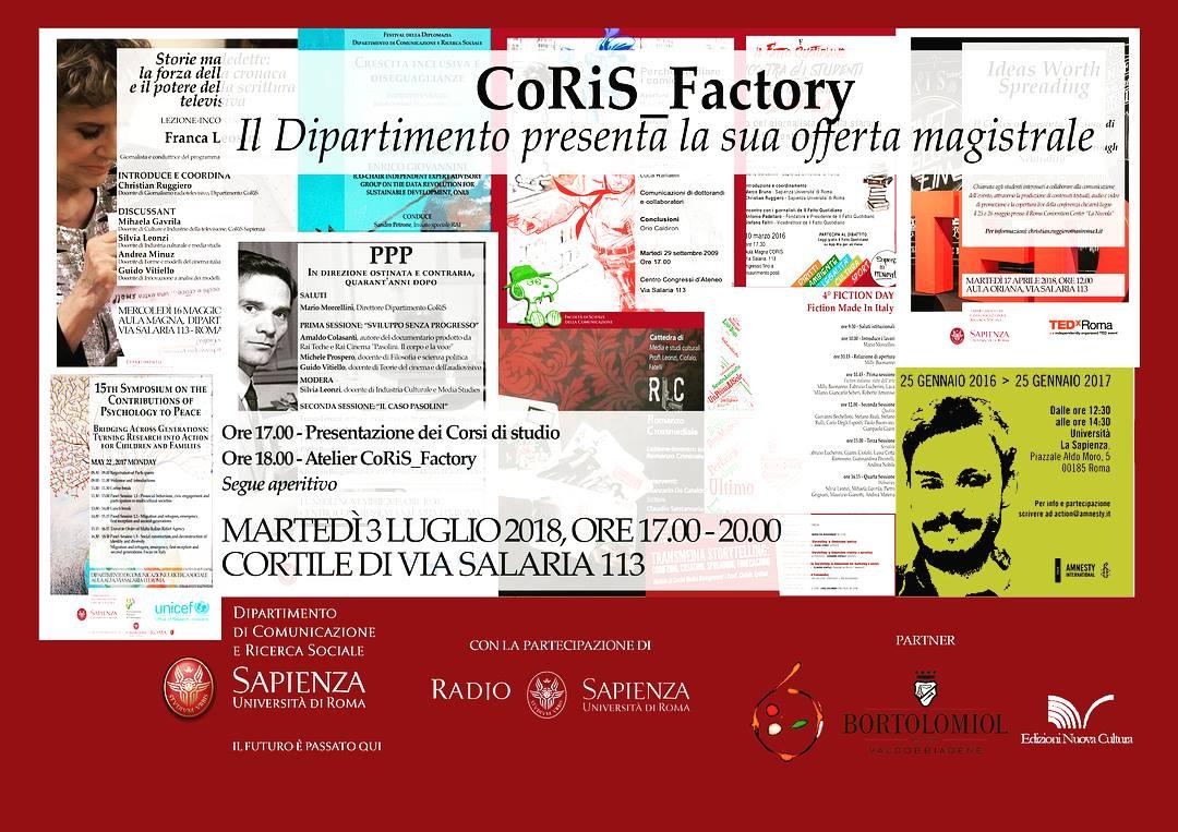 Coris_Factory: una 'gustosa' presentazione per gli studenti Sapienza