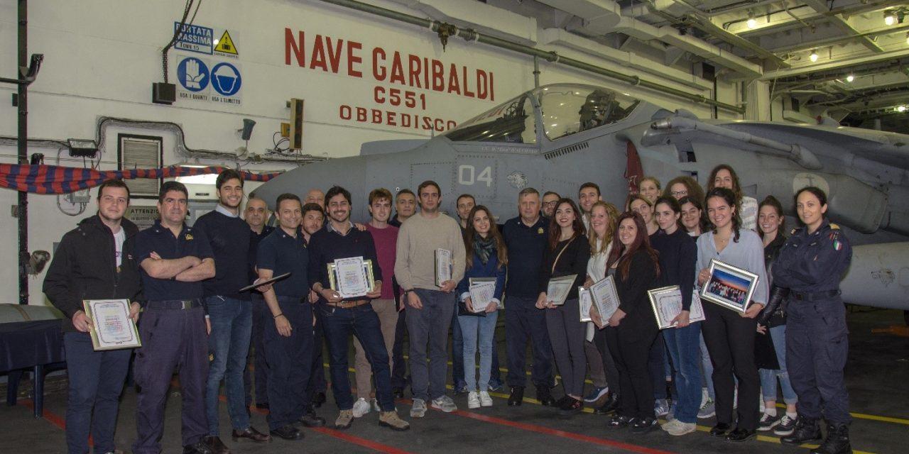 Mare Aperto 2019: gli studenti della Sapienza a bordo della portaerei Garibaldi